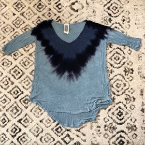 Free People Flowy Tie Dye Knit Top